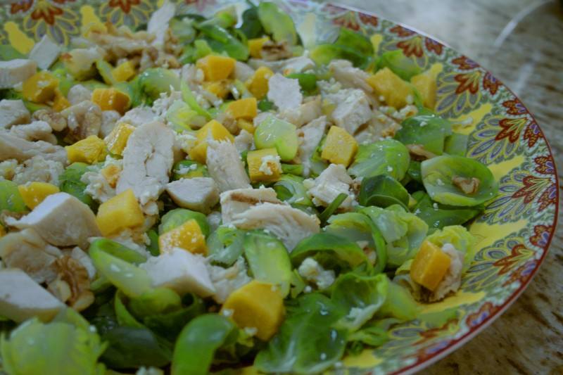 Brussel Sprout Peach Salad